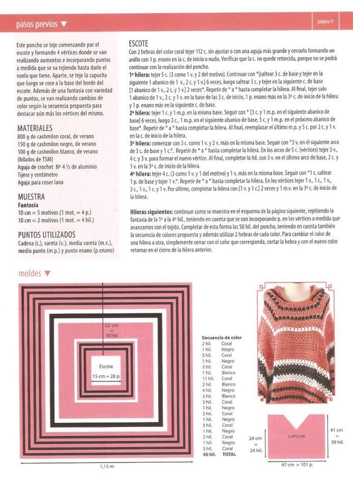 0e6bae9c75b81 مجلة بونشو كروشية للسيدات لا تفوتك.crochet ponchos - منتدي الراقيات ...