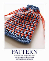 free crochet patterns, how to crochet, bags, gift bags, drawstring bags,