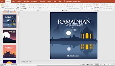 Poster Ucapan Selamat Bulan Ramadhan 1442 H / 2021 M Power Point PPT