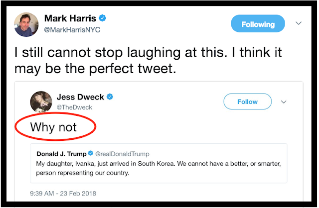 Best counter tweet about Ivanka 2.23.18 Private Citizen Marchmatron.com