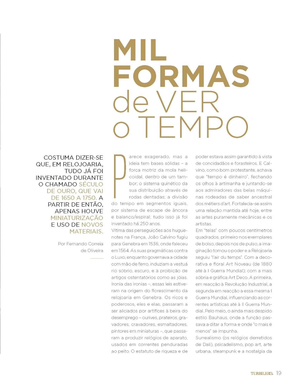 8fc2e88a34b Estação Cronográfica  Mil formas de ver o Tempo - revista Turbilhão ...