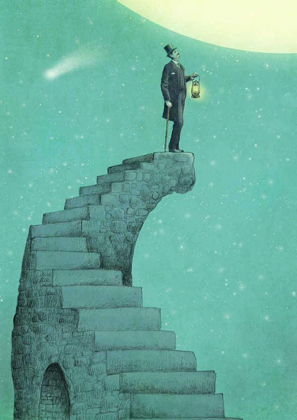11-Moon-Steps-Eric-Fan-Illustration-of-Fantasy-Characters-in-Surreal-Worlds-www-designstack-co