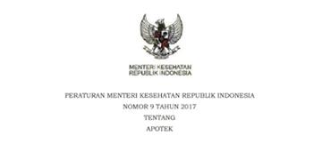 Permenkes No. 9 Tahun 2017 Tentang Apotek