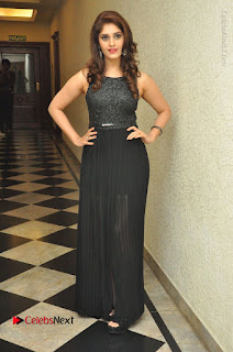 Actress Surabhi Stills in Black Long Dress at turodu Audio Launch  0145.JPG