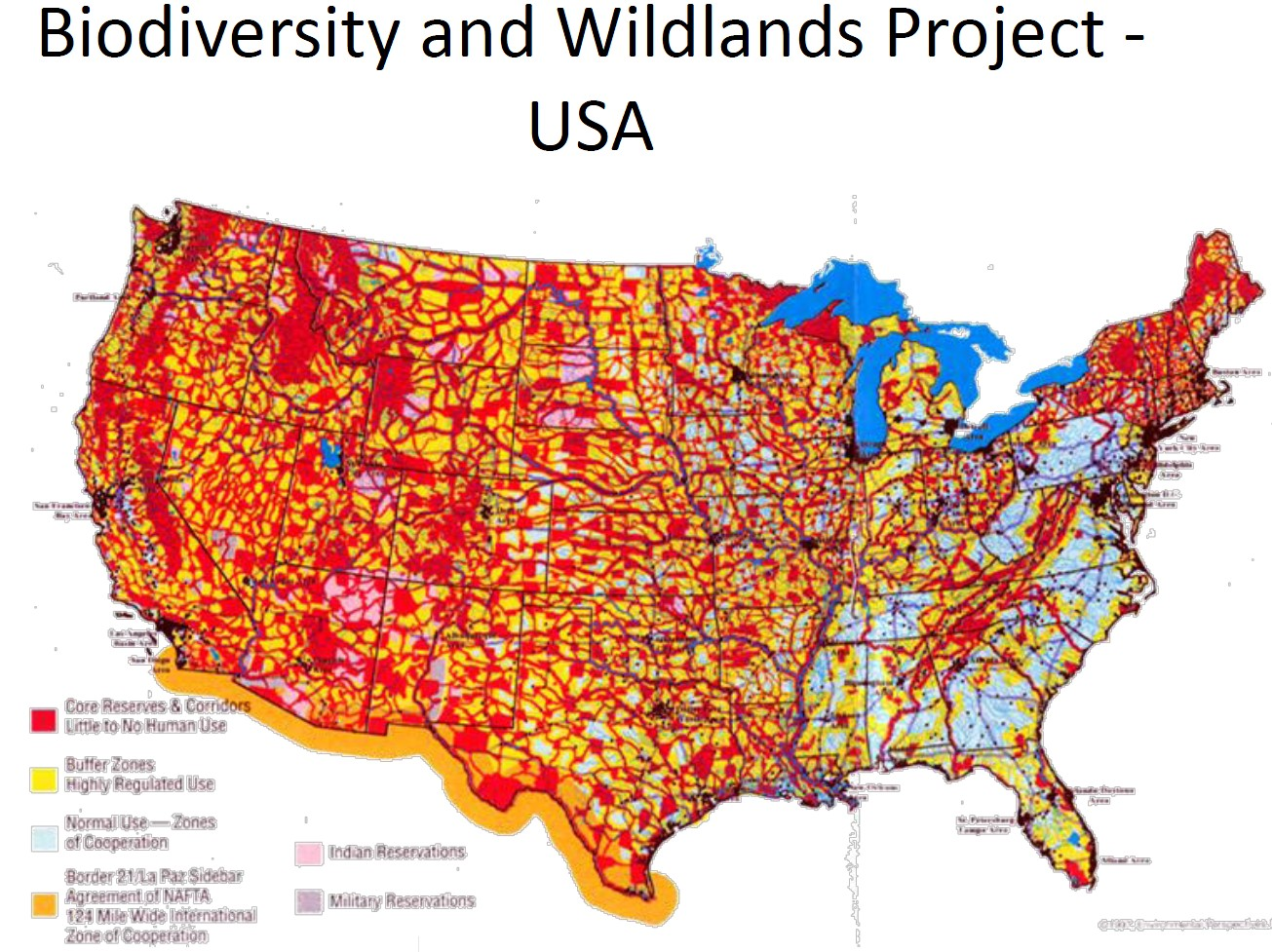 agenda 21 wildlands project map submited images.