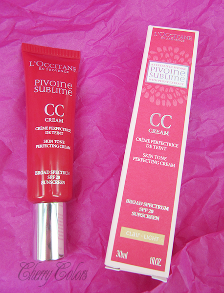 L occitane pivoine sublime cc cream light