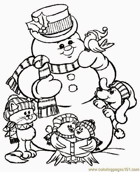 Free Coloring Pictures: Xmas Coloring Pictures