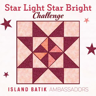 August star quilt challenge for Island Batik ambassadors