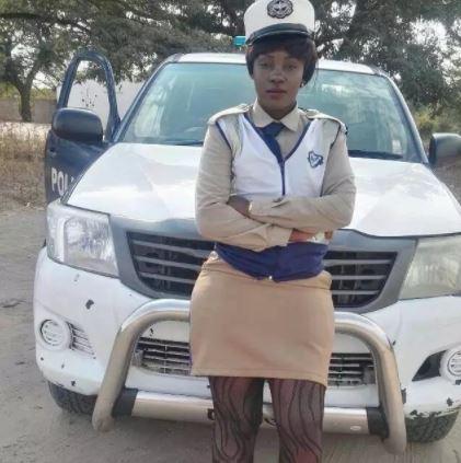zambian police woman mini skirt