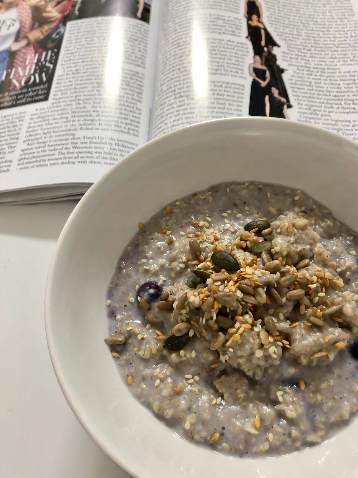 Breakfast, Porridge, Oats, Recipe, Healthy Idea, Blueberries