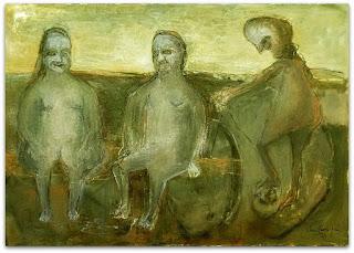 Iberê Camargo: óleo sobre tela. Crepúsculo da Boca do Monte (1991)