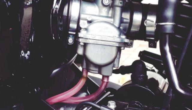 selang karburator rusak
