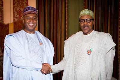 Buhari meets Saraki, four APC governors at Aso Rock