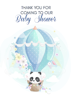 Panda baby shower printables