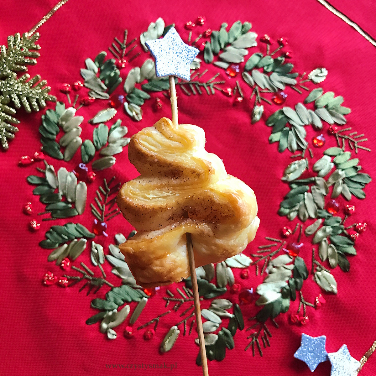 Świąteczne choinki z ciasta francuskiego