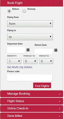 Finding danaair flight online