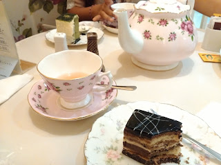 chocolate cake afternoon tea