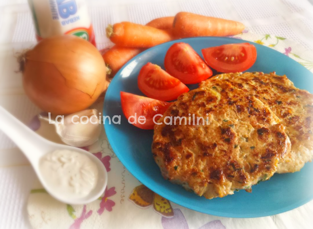 Hamburguesa de pollo con salsa kebab (La cocina de Camilni)