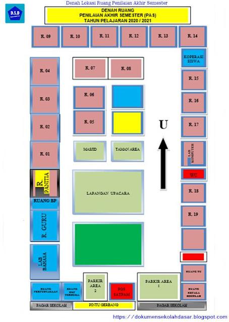 contoh denah lokasi ruang penilaian akhir semester