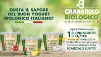 Logo Granarolo: buono sconto Yogurt Biologico