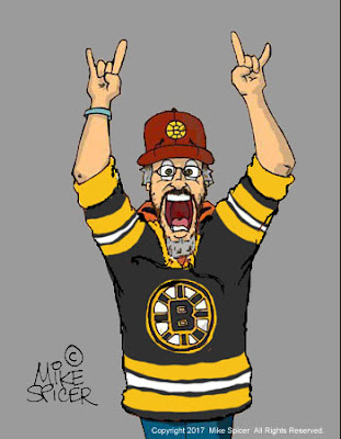 Boston Bruins fans cartoon hockey fan cartoon  caricature