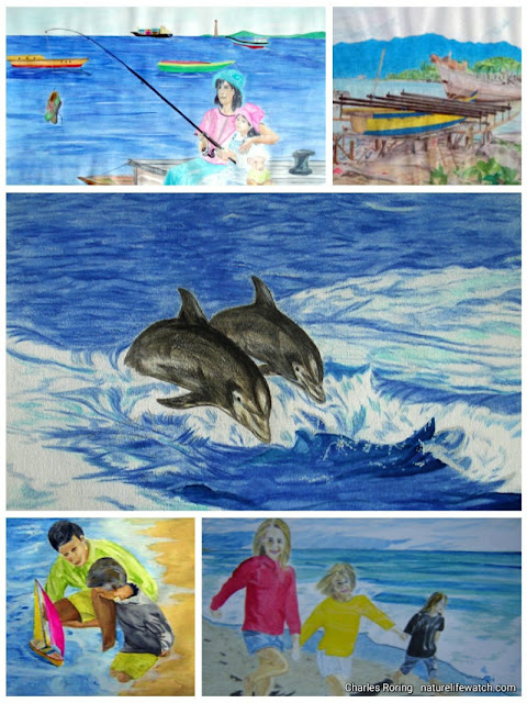 drawings and paintings from marine and coastal life