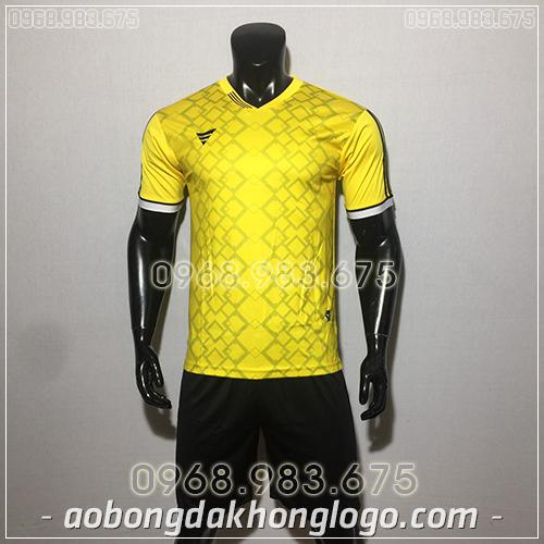 Áo bóng đá ko logo TA NC màu vàng
