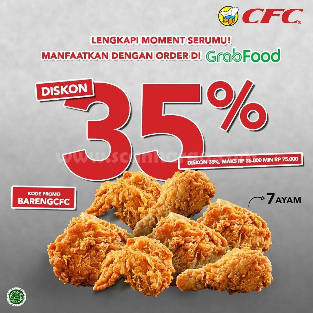 Promo CFC DISKON 35% untuk pemesanan via GRABFOOD