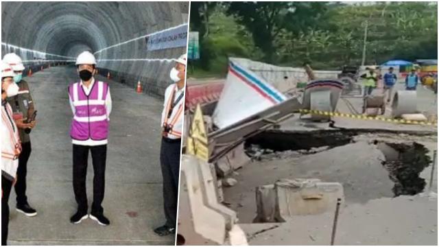 Tak Ada Hujan, Tanah Ambles di Lokasi Terowongan Proyek Kereta Cepat Indonesia-China