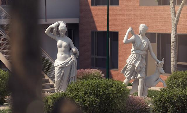 Perspectives 3D - détails des jardins