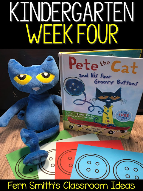 Week Four in Kindergarten is All About Pete the Cat!