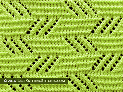 Popular lace knitting pattern - 21 -