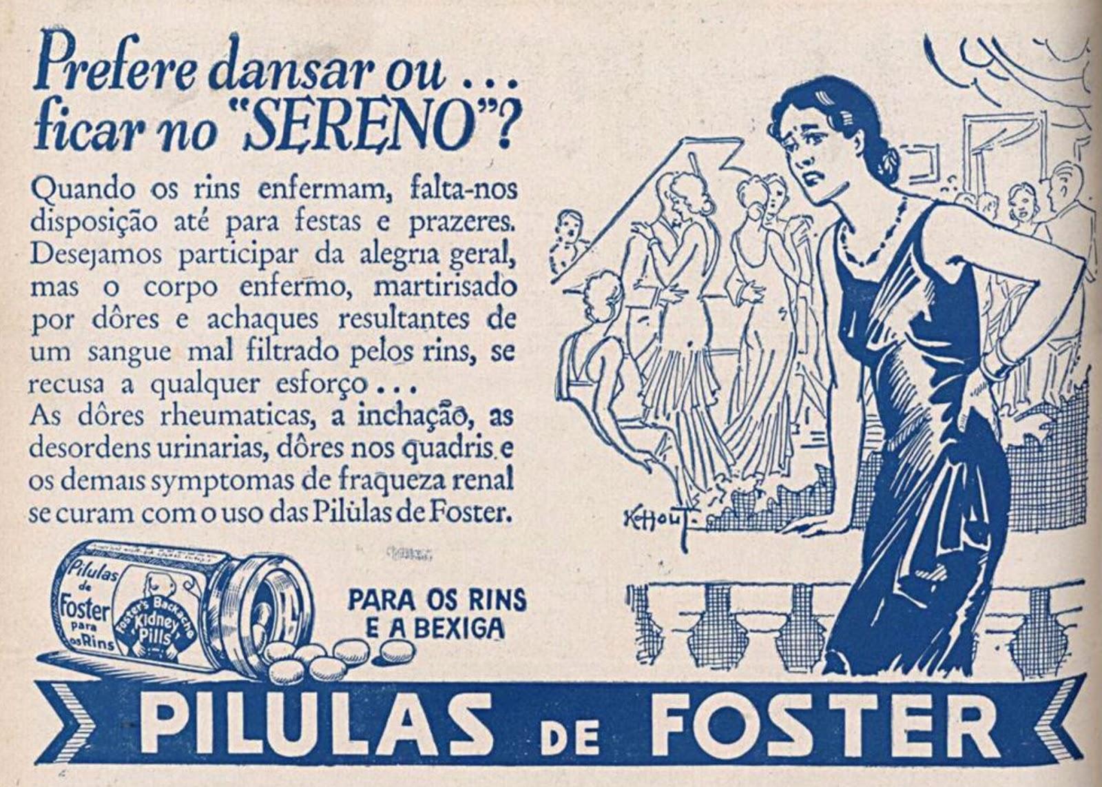 Propaganda antiga de remédio para rins e bexiga apresentado em 1939