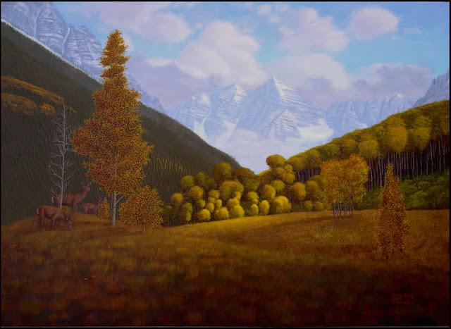 Maroon Bells, mountains, Colorado, Aspen, fall, autumn, aspen trees, clouds, deer, nature