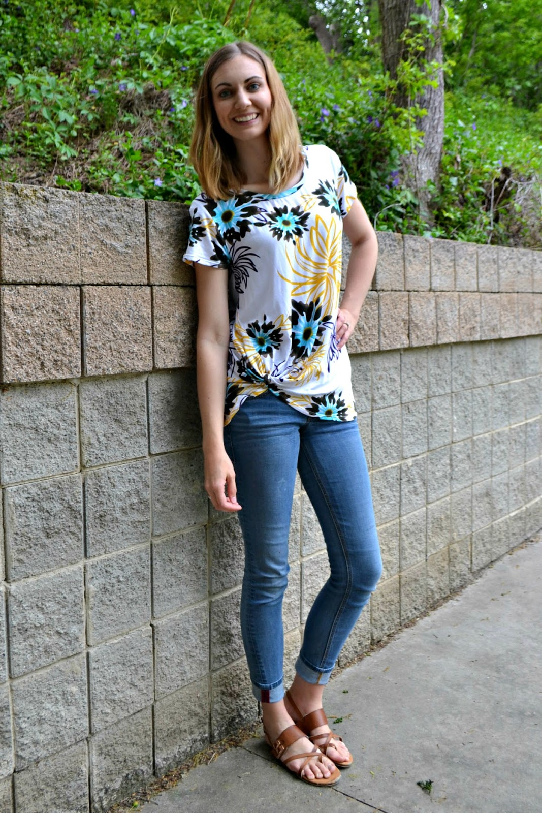 Me Made: Floral Harbor Knot Tee