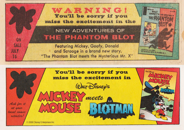AAd in Walt Disney's Comics and Stories #287 and Mickey Mouse #285