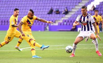 Video Real Valladolid 0-1 Barcelona: Bước ngoặt lão tướng, nín thở phút bù giờ