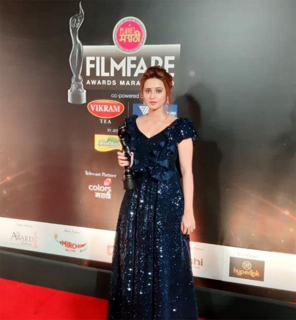 Shivani Surve with Award