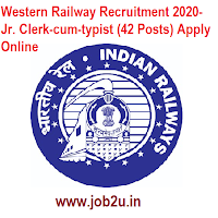 Western Railway Recruitment 2020- Jr. Clerk-cum-typist (42 Posts) Apply Online