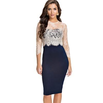 vestidos formales con manga larga