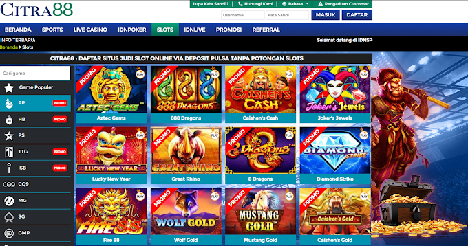 Main Slot Online | Deposit Pulsa Tanpa Potongan | Proses Tercepat 2020