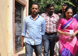 Kalvakuntla Kavitha @  Meet the Press held at Press Club