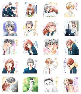 Mangás da Sakisaka, mangaká de ao haru ride, ganham stickers no Line