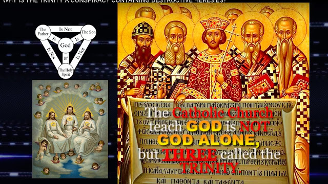 the TRINITY faith CONTRADICT the word of GOD and say there are another TWO PERSONS besides (Him GOD),