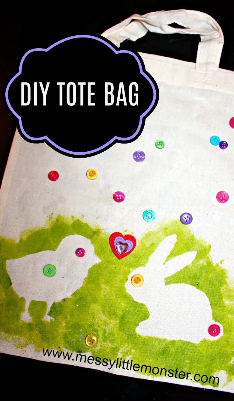 Easter crafts for preschoolers - DIY tote bag