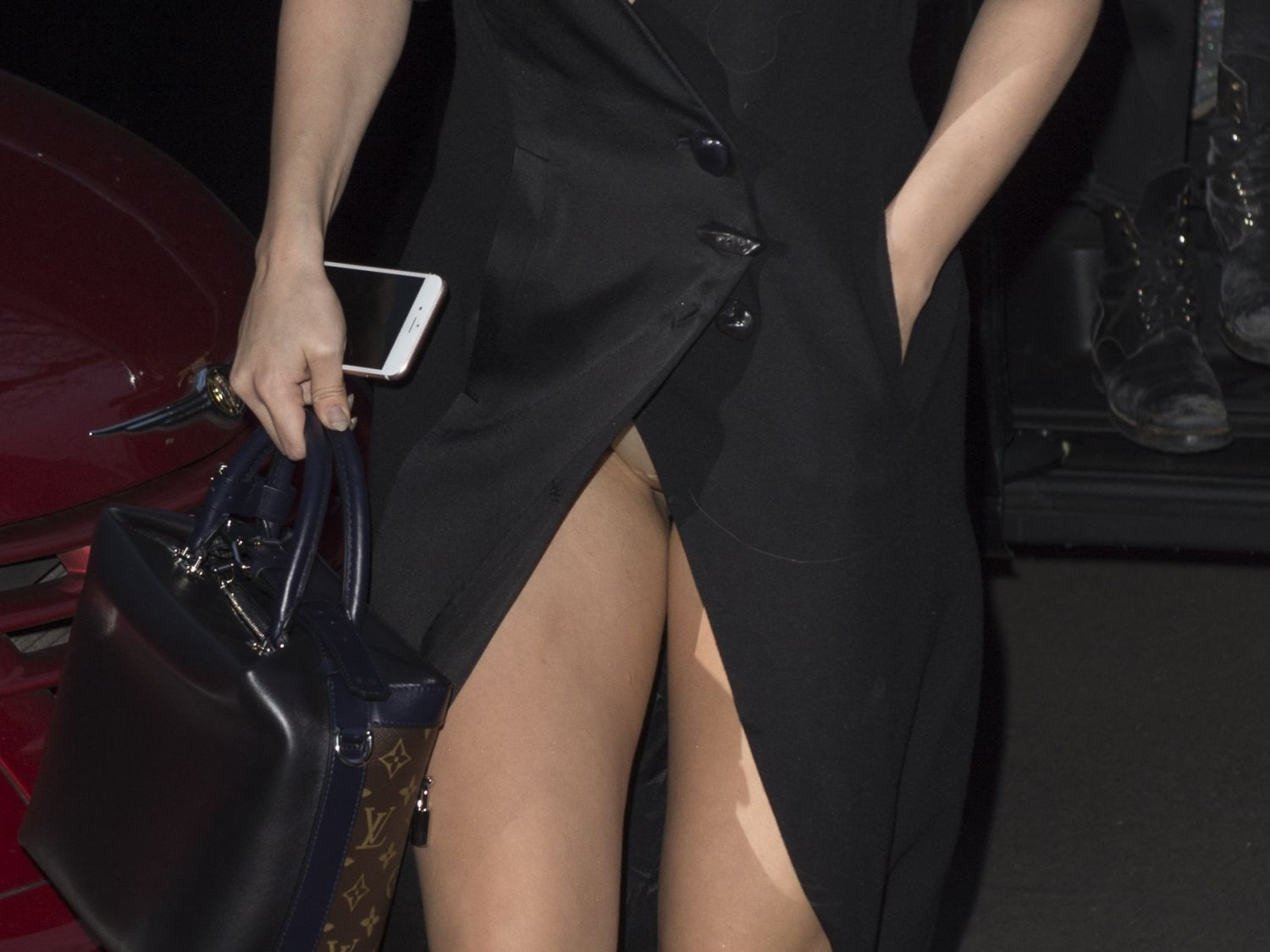 Selena Gomez Upskirt and Leggy Candids During Paris Fashion Week