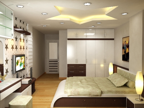 Mẫu thiết kế phòng ngủ căn hộ Booyoung Vina