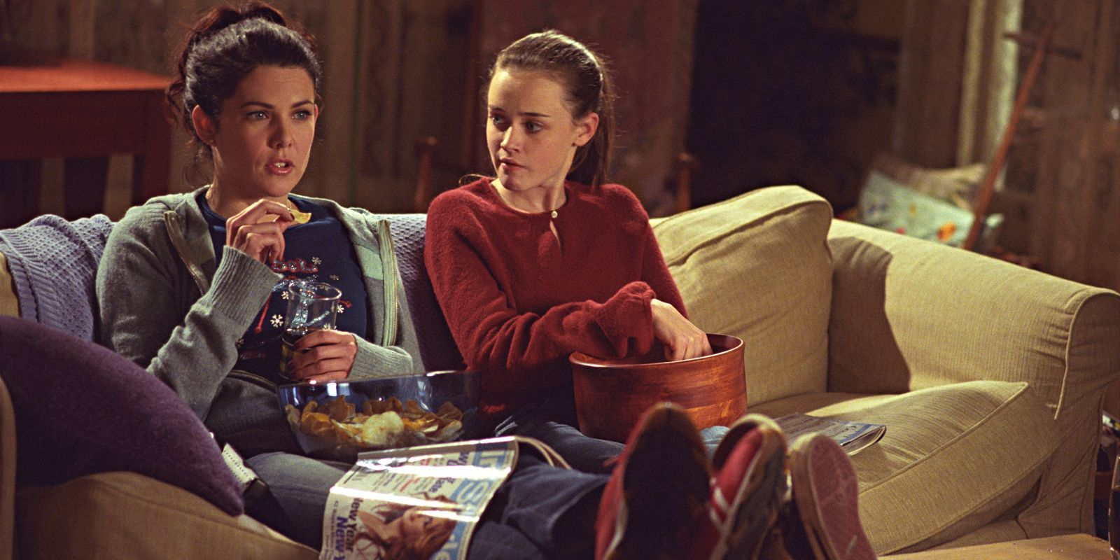 Lorelai y Rory gilmore en 'Gilmore Girls'