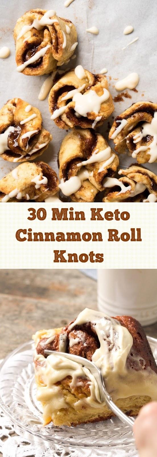 30 Min Keto Cinnamon Roll Knots