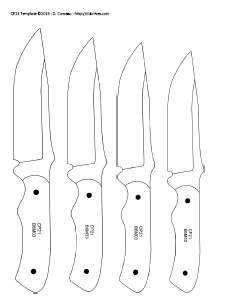 diy knifemaker 39 s info center knife patterns iv. Black Bedroom Furniture Sets. Home Design Ideas
